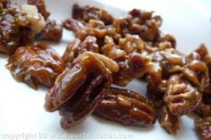 Caramelizing may sound scary, but it's pretty darn easy, and once you get the technique down, you can caramelize any nut to your heart's content. They're great on salads, on top of desserts, or just to snack on!