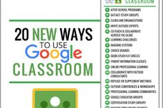 20 New Ways to Use Google Classroom [infographic]