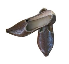 US 9 MEN SHOES BROWN MOJARI INDIAN HANDMADE LEATHER FLIP-FLOPS SANDALS FLAT in Clothing, Shoes & Accessories, Men's Shoes, Sandals & Flip Flops | eBay
