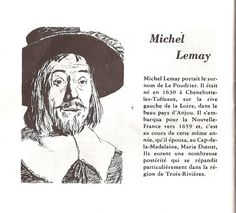 Michel Lemay dit Le Poudrier -  Source: Les anciennes familles du Québec,Brasserie Labatt limitée, La Brasserie–Québec (Province)–159 pages Famille La SalleFamille Fleury Work For Hire, Family Roots, Canada, Michel, First Nations, Native American Indians, Ancestry, Family History, Genealogy