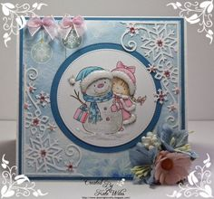 Wild Rose Studio: Girl with Snowman with Kate