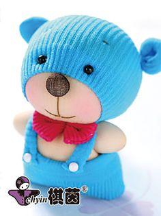 Bitsy Bear  Candy Babies Stuffed Animal Kit by ClassyThreadsKits, $12.00