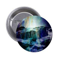 Cosmic Falls Pinback Button