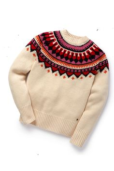"""Perfect for the Christmas season or that ski trip"" – Olivia Palermo Maison Scotch Jumper Warm Outfits, Pretty Outfits, Winter Outfits, Cool Outfits, Baby Boy Knitting Patterns, Christmas Jumpers, Colorful Fashion, Pulls, Knitwear"