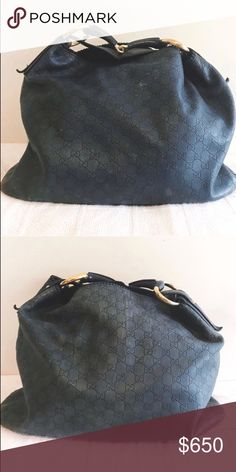 cbc4fb8b0e9 Gucci bag Large Gucci Gussisima leather horsebit hobo bag. Signs of wear.  Color is