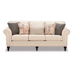 Fabric Heavenly 8004 Mocha Dark Grey Sofas Sectionals