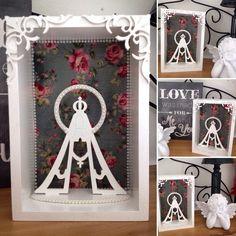Antecipe suas compras para o Natal!    Delicado presente, com requinte e elegância, agradará a todos!    Oratório com nossa senhora decorado, em mdf, todo em branco, com tecido e pérolas.