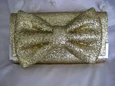 Betsy Johnson Inspired Glitter Clutch Tutorial. I will also use this method to make some hair bows I think