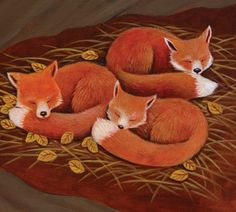 Fox Cubs by Carol Liddiment Fantastic Fox, Fabulous Fox, Kitsch, Fox Crafts, Fox Pictures, Fox Spirit, Fox Illustration, Fox Art, Cute Fox