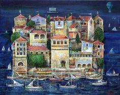 "Valeri Tsenov, from Plovdiv, Bulgaria Oil Painting - from his Gallery ""Seascape"""