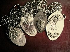 made from silver spoons