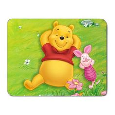ar09-38 Winnie The Pooh PC Cloth Cover Square Mouse Pad