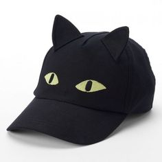 Women's Halloween Black Cat Embroidered Hat Halloween Outfits, Halloween Costumes, Big And Tall Outfits, Hat Embroidery, Shoes Too Big, Halloween Goodies, Cotton Hat, Embroidered Hats, Cat Hat