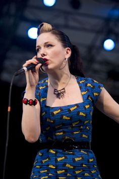 I love rockabilly, especially Imelda May. She's stylish, she's talented, and she wears Batman dresses.