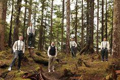 Love this groomsmen shot! / Vivian & Jared - Alaska Wedding by Jessica Zais Photography