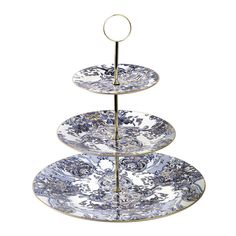 ROBERTO CAVALLI Azulejos 3 Tier Cake Stand - Blue/White $795 - FREE SHIPPING OR PICK UP