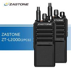 2pcs/lot Zastone L2000 Walkie Talkies UHF 400-480MHz Two Way Radio 20W Ham CB Radio Portable Walkie-talkies Transceiver