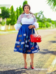 African Dresses For Kids, African Fashion Skirts, African Lace Dresses, Ankara Short Gown Styles, Short Gowns, Chitenge Outfits, Black And Blue Dress, African Print Skirt, Ankara Tops