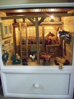 horse stable - i LOVE this! looks like they used a dresser.: