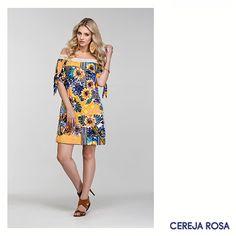Os florais serão indispensáveis neste verão! Que tal apostar em flores exóticas, como nesse vestido ombro a ombro lindo? Aqui você encontra mais opções! www.cerejarosa.com.br  <3