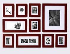 """Rethink that Empy Wall """"Create the perfect picture wall. I organize my photos according to theme. I like to print my travel photos out in sepia tones and then order frames and matting from the picturewallcompany.com. They make it so easy that the photos practically arrange themselves on the wall"""