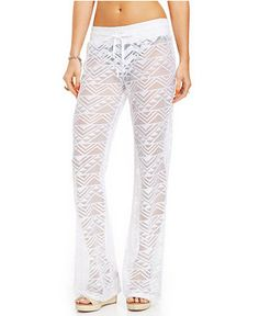 Miken Wide-Leg Crochet Cover-Up Pants - Swimwear - Women - Macy's