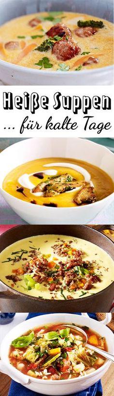 Löffel raus, denn hier kommen köstliche Suppenrezepte für die kalte Jahreszeit. Viel Spaß beim Aufwärmen und Genießen!