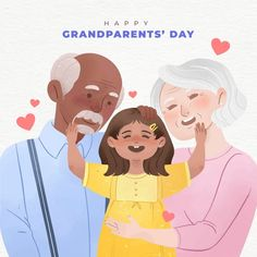 National Grandparents Day, Happy Grandparents Day, Fruit Pattern, Free Design, Vector Free, Disney Characters, Fictional Characters, Concept, Watercolor