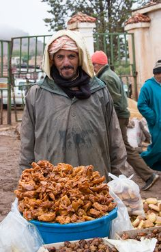 Sweets at the market . Morocco