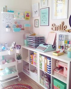 Home Office Setup Ideas Furniture Sewing Room Decor, Craft Room Decor, Teen Room Decor, Sewing Rooms, Home Office Decor, Home Decor Bedroom, Office Setup, Room Setup, Space Crafts
