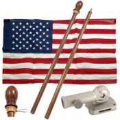 73fc70540 Valley Forge Cotton USA Flag Kit Mahogany Stain