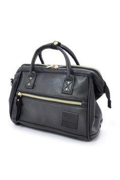 d2498180827042 Buy original anello PU leather 2 way mini boston bag (mini size, Black color