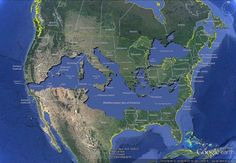Mediterranean sea overlaid onto the US