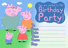 Party invitations #peppa pig childrens birthday - 10 #cards per pack + #envelopes,  View more on the LINK: 	http://www.zeppy.io/product/gb/2/182014677123/