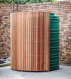 New Vertical Timber Screen Modern Fence Ideas Water Collection System, Rain Collection, Timber Screens, Water Storage Tanks, Garden Screening, Wooden Screen, Rain Barrel, Rainwater Harvesting, Modern Fence