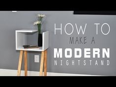 Stylish Crafts Made Easy – Modern DIY Nightstand Tutorial - Home Decorating Trends - Homedit