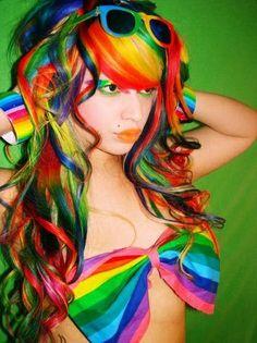 RAINBOW.......Crazyyy hair but cutee!!!
