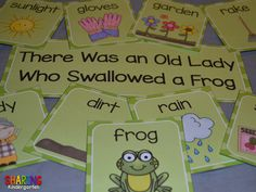 sequencing the book, There Was an Old Lady Who Swallowed a Frog