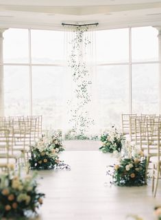 Aisle ceremony flowers Modern Spring Wedding at Silver Creek Valley Country Club Wedding Aisles, Wedding Ceremony Ideas, Wedding Aisle Decorations, Wedding Altars, Wedding Events, Wedding Ceremonies, Wedding Centerpieces, Church Decorations, Wedding Backdrops