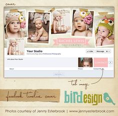 Facebook custom timeline cover  E3457 by birdesign on Etsy, $8.00