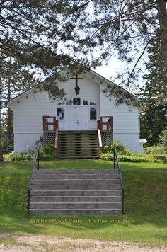 The Chapel - Lac Castor Deck, Fairy, Wood, Outdoor Decor, Plants, Home Decor, Homemade Home Decor, Woodwind Instrument, Decks