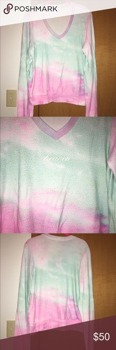 Wildfox Heaven Tie Dye V-Neck BBJ Size small.  One of my firsts in my Wildfox collection that I purchased on eBay years ago.  This is pre owned and has piling!!!  I have the matching shorts I will be listing also.  Open to offers! Wildfox Tops Sweatshirts & Hoodies