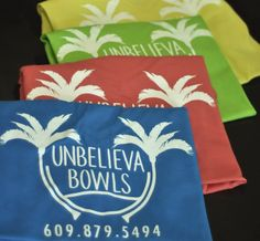 In addition to the great stickers we made for Unbelievabowls, we also created some great shirts to go with it! #coastalsign #shirts #bowls #colorful
