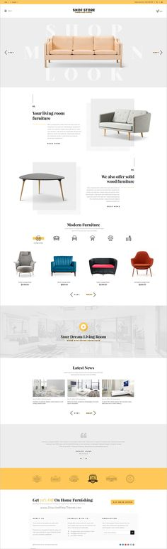 Shofstore is a stylish premium #PSD template for multipurpose #furniture #shop eCommerce website with 3 different homepage layouts and 10 organized PSD pages download now➯ https://themeforest.net/item/shofstore-stylish-ecommerce-psd-template-for-furniture-store/16973127?ref=Datasata