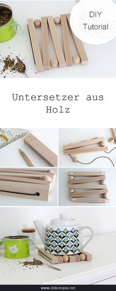 diy holz DIY Anleitung: Baue e - diy Wooden Crafts, Wooden Diy, Wooden Projects, Wooden Coasters Diy, Crafts To Sell, Diy And Crafts, Kids Wood, Cool Diy Projects, Handmade Home Decor