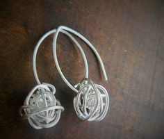 Sterling Silver Knot Wire Ball Love Knot Yarn by SFDesigns2015