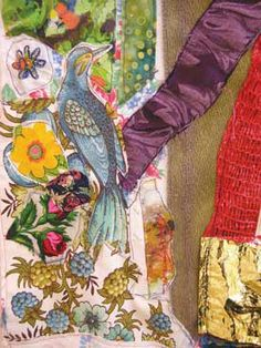 Bonny Gorsuch # Found Objects # Vintage Fabrics # Assemblage # Collage # The Art of Green # Daily Astorian