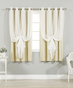 Take A Look At This Navy Tulle Blackout Short Curtain Panel