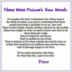 Words by Prince