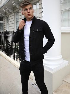 Mens > The Jackets > The Denver Mens Smart Casual Outfits, Smart Casual Menswear, Men Casual, Black Outfit Men, Zara Outfit, Winter Hoodies, Cool Street Fashion, Men Looks, Timeless Fashion
